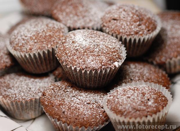 Кексы шоколадные рецепты простые в формочках