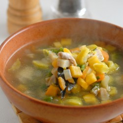 Лёгкий куриный суп