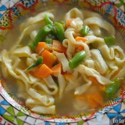 Суп-лапша на мясном бульоне