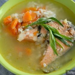 Запечённый суп с красной рыбой