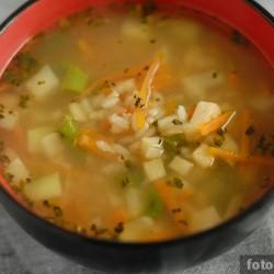 Суп с сельдереем и кольраби