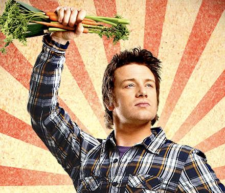 Джейми Оливер с морковкой