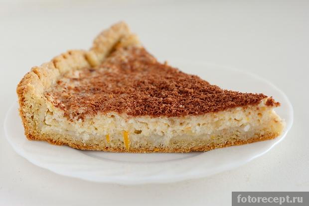 Пирог с начинкой из творога и банана рецепт