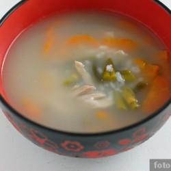 Куриный суп с чесночными стрелками