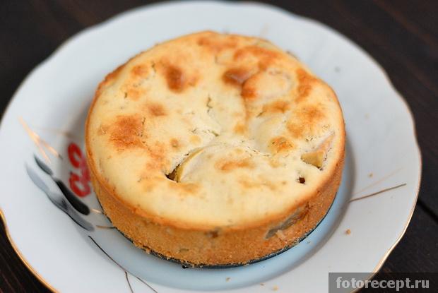 Яблочный пирог на простокваше рецепт с пошагово в духовке