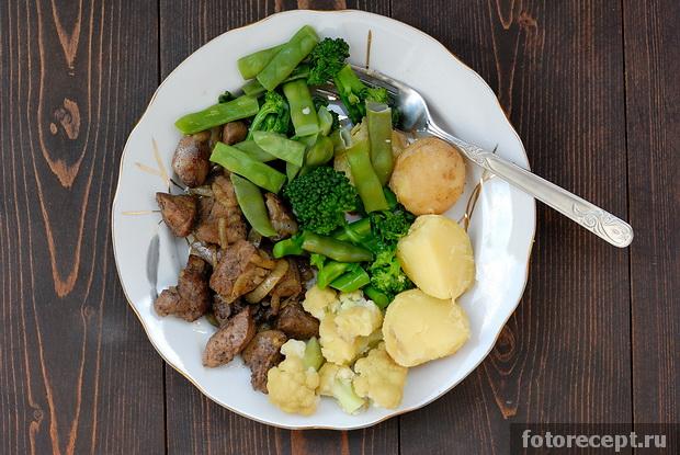 Ливер с картошкой жареные