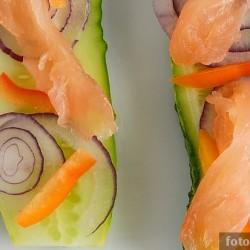 Летние бутерброды с красной рыбой