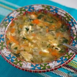 Яичный суп (Лхаса суп)