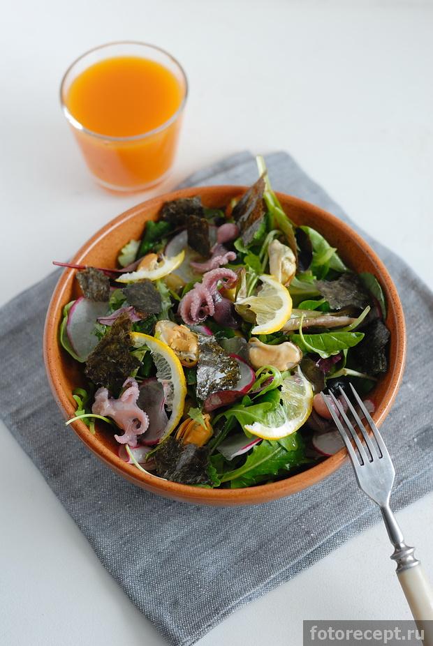 простые рецепты салатов с мидиями