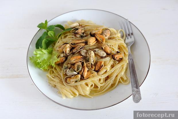 Мидии со спагетти рецепты