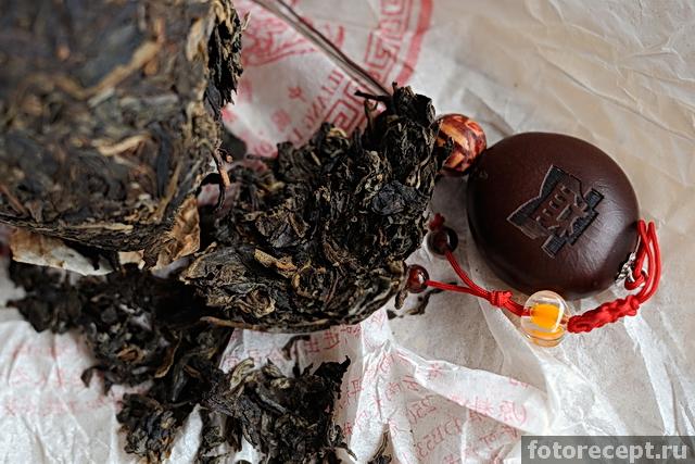 Лонгъю Буланшань, шен пуэр в форме гриба – фабрика Юйлянь Сян Лун, 2006