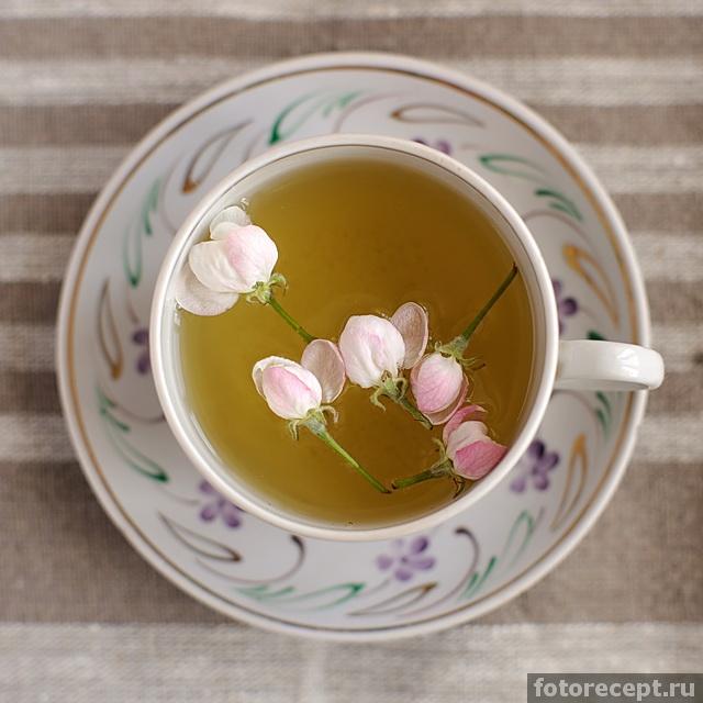 Чай из цветов яблони