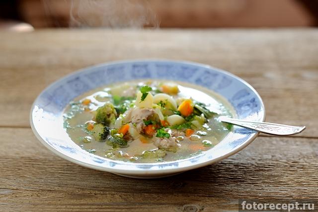 рецепт супа на курином бульоне с брокколи