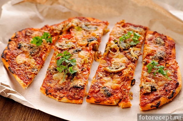 пицца с шампиньонами рецепты