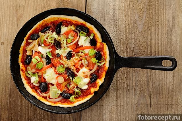 простой рецепт для пиццы на сухих дрожжах