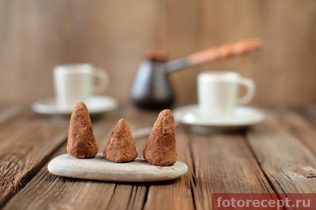домашние трюфели и кофе