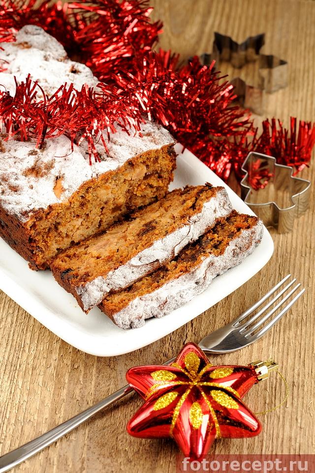 Фруктовый кекс с орехами по рецепту Джейми Оливера