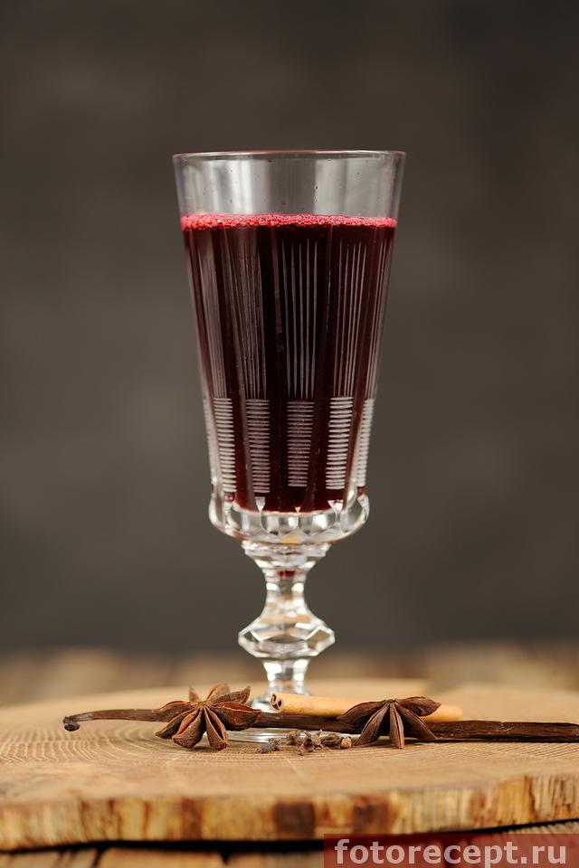 Безалкогольный глинтвейн с вишней