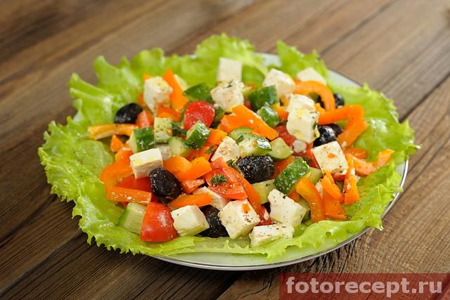 рецепт греческого салата самый простой рецепт