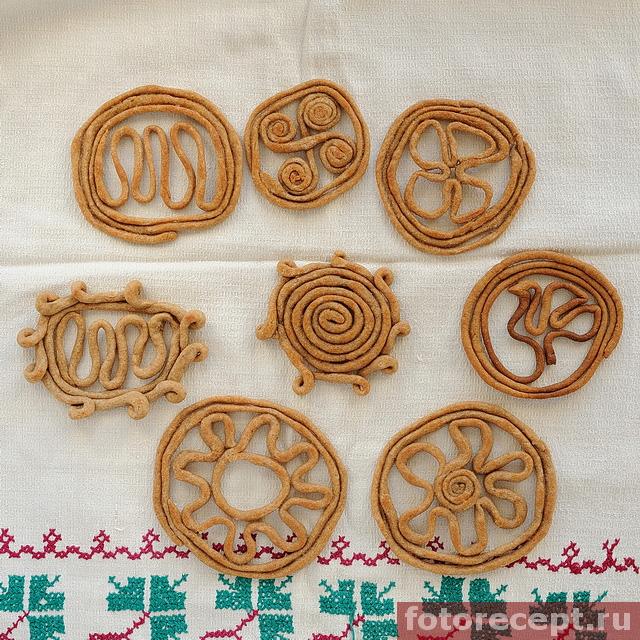 Печенье тетёрки на весеннее равноденствие