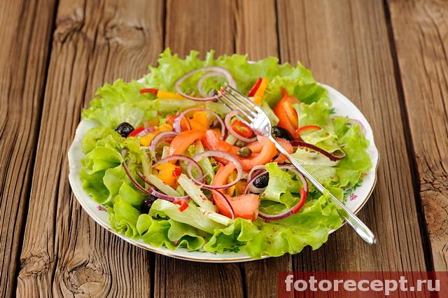 Постная версия греческого салата