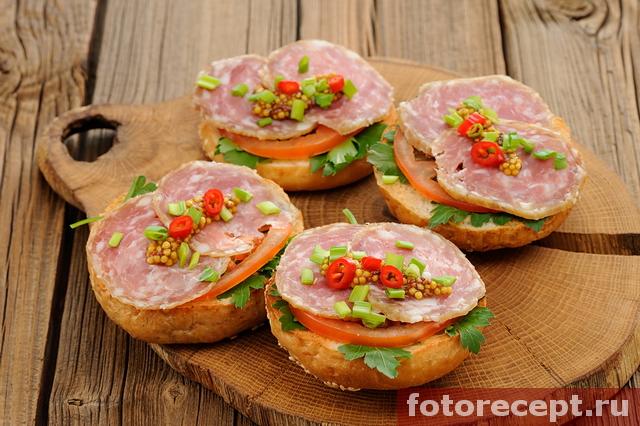 Сэндвичи с ветчиной