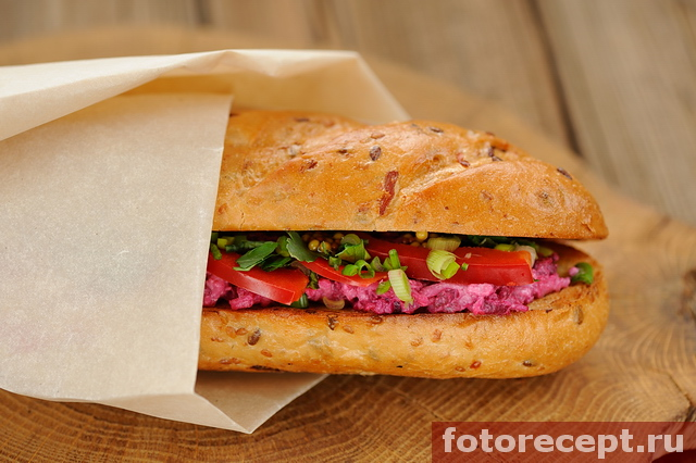 Бутерброды со свёклой