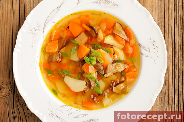 Быстрый суп с белыми грибами