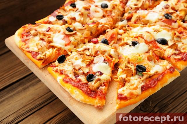 рецепты пиццы с грибами лисичками
