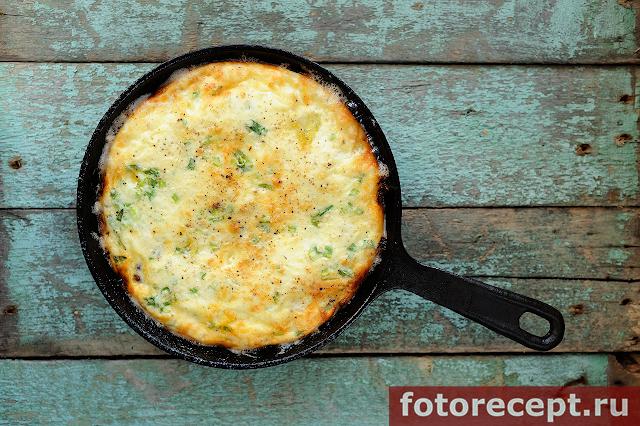 Омлет с сыром и чечевицей