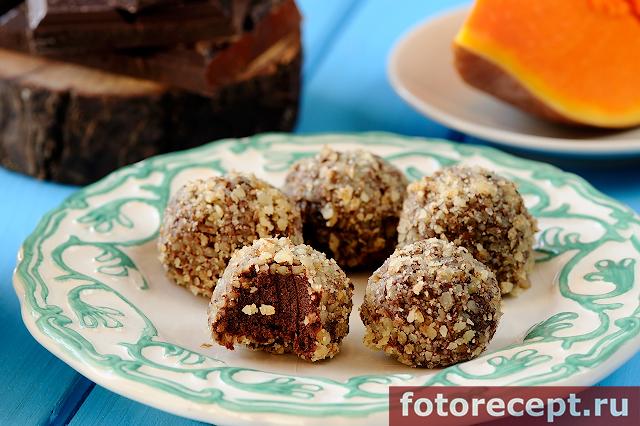 Домашние шоколадные трюфели с тыквой