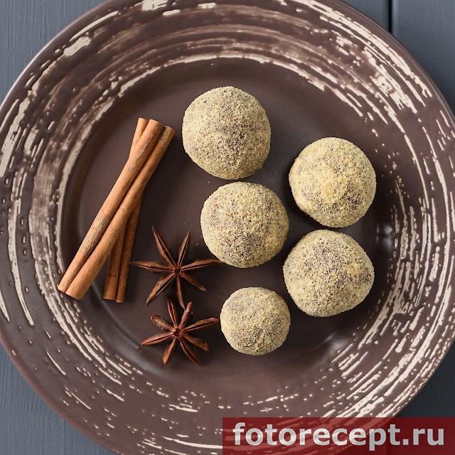 Шоколадные конфеты с сухарями