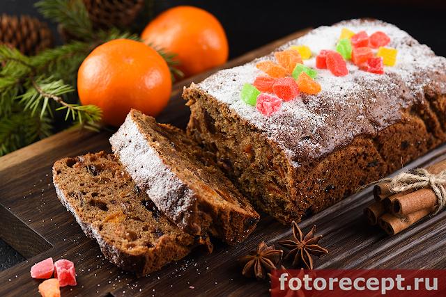 Быстрый фруктовый кекс без замачивания сухофруктов