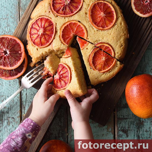 Кексы с красными апельсинами